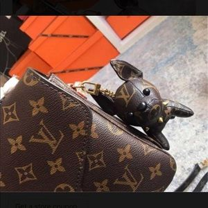 Louis Vuitton dog keychain